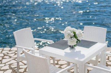 Restauran table on a seaside