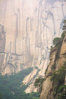 Rocky hillside of the Huashan mountain