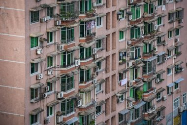 Blocks of flats in the Zigong city