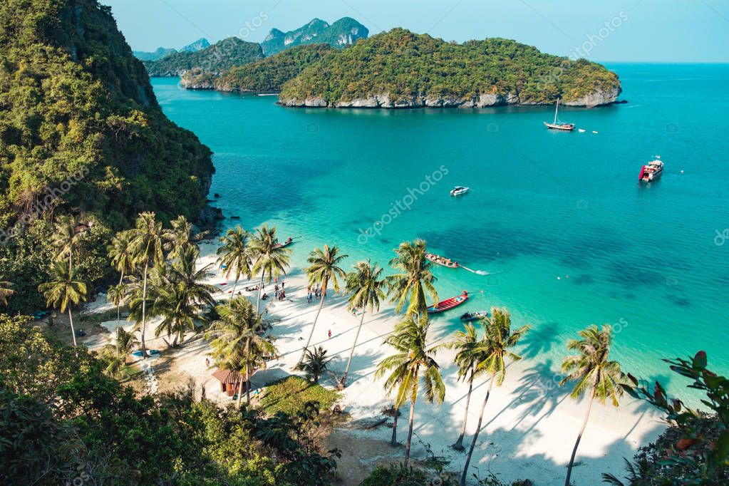 Beautiful beach at Ang Thong National Park, Thailand