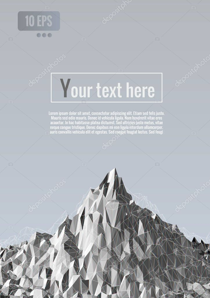 Abstract polygonal terrain graphic bg