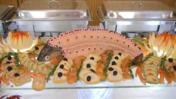 bufet, ryby a mořské plody, občerstvení