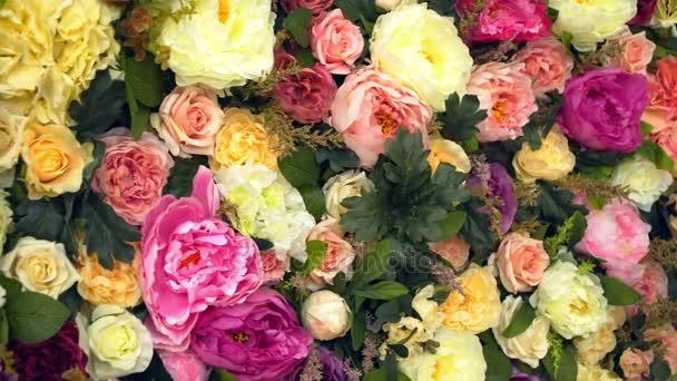 Pozadí: červená žlutá a růžová růže