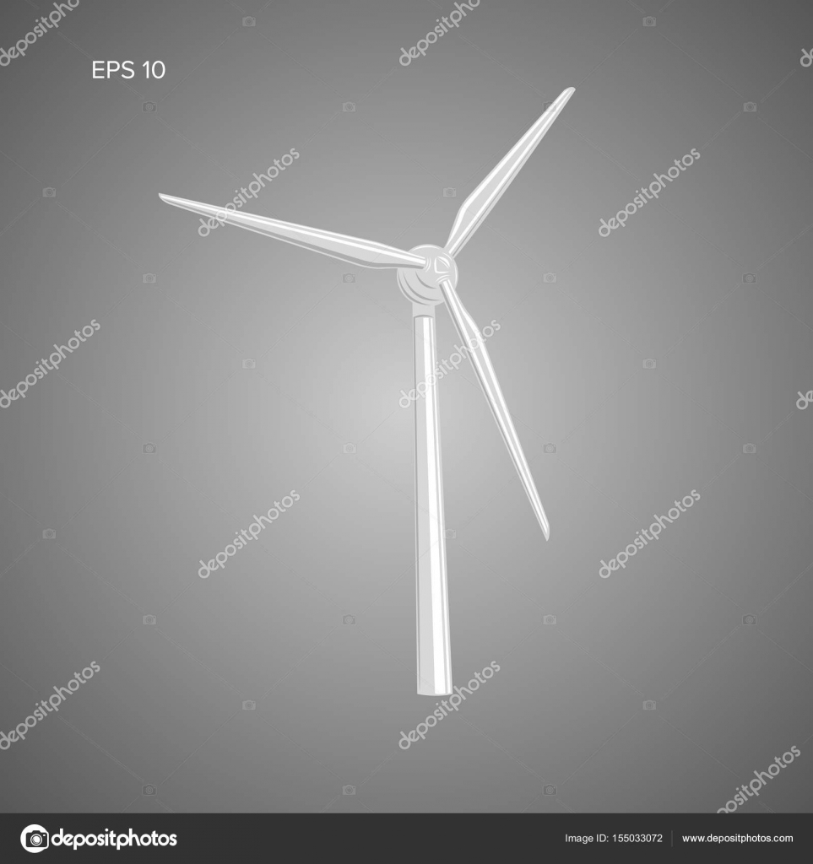 Riesen Luft Turbine-Vektor-Illustration. Grüner Strom-Generator ...