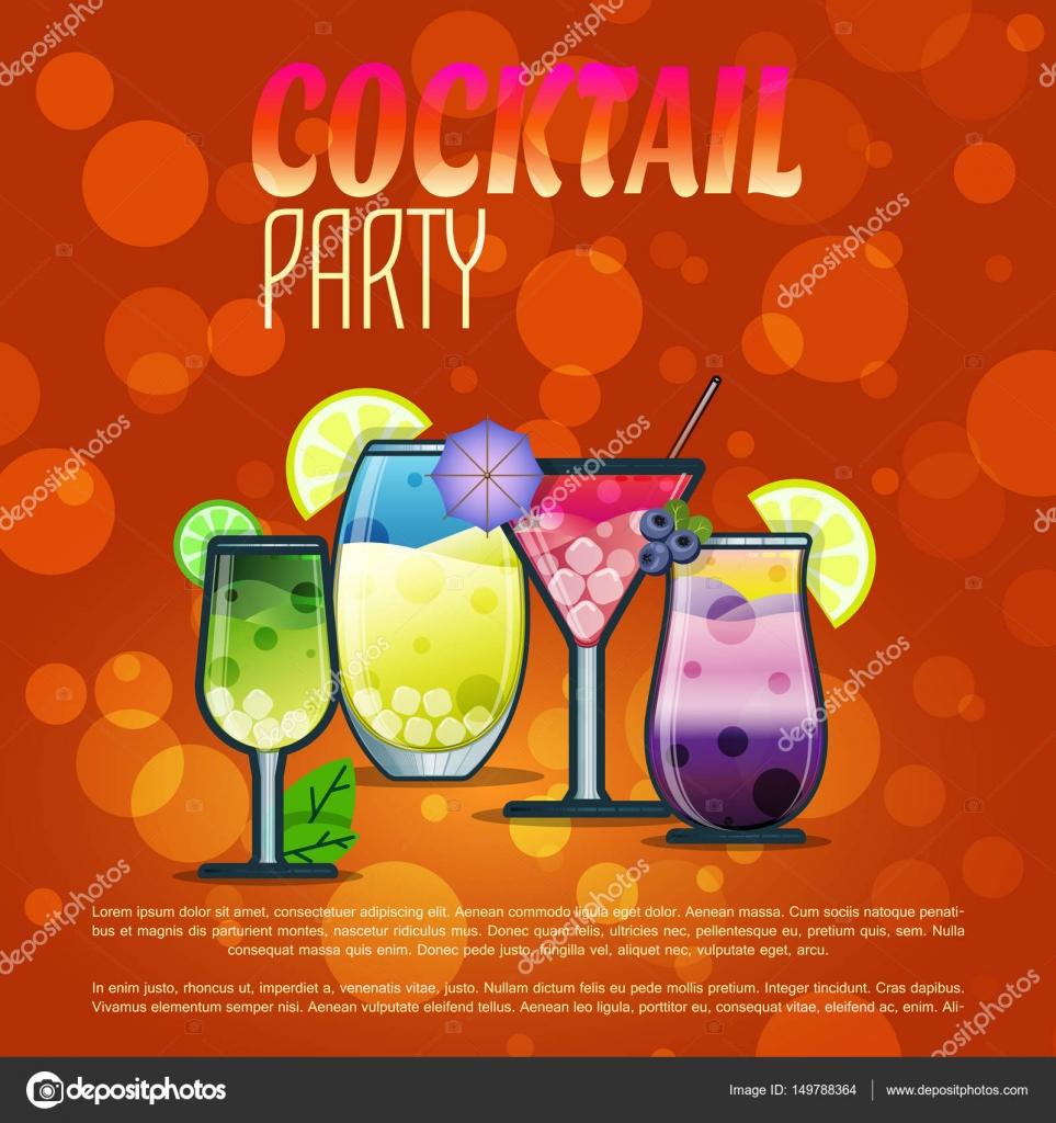 Cocktail Karte.Sommer Cocktails Party Banner Einladung Flyer Karte Poster Mit