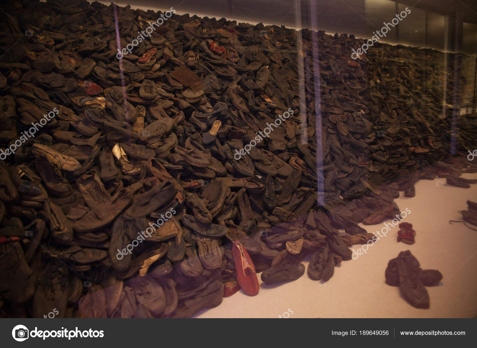 Museum Auschwitz Holocaust Memorial Museum Stacks Shoes