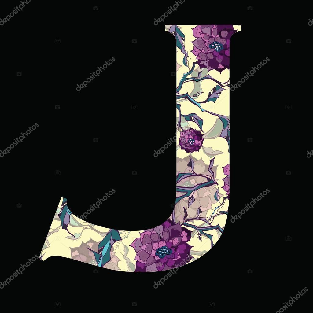 Carta logotipo, icono. Diseño de carta floral para cubierta de libro ...