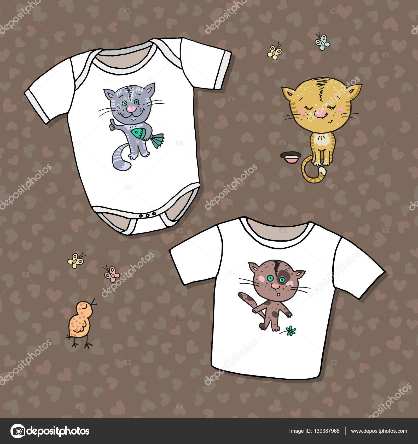 Plantilla de dibujo de mono y camiseta para niños — Archivo Imágenes ...