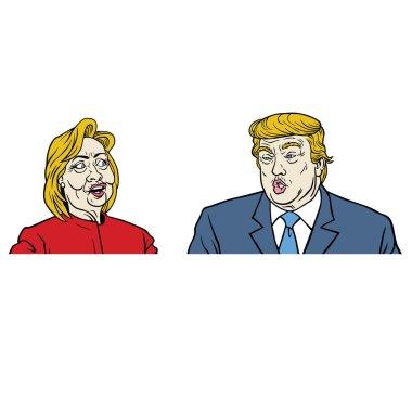 Presidential Candidates Debate, Hillary Clinton Versus Donald Trump