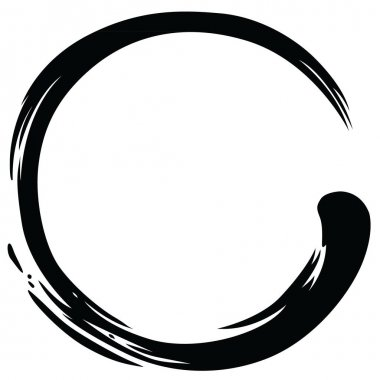 Zen Circle Paint Brush Stroke Vector