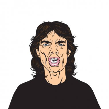 Mick Jagger Vector Portrait Illustration