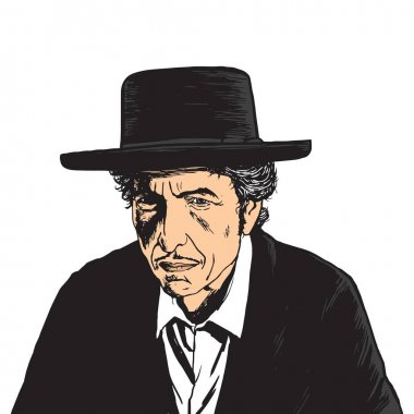 Bob Dylan Vector Pop Art Portrait
