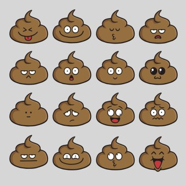 Poop Cute Cartoon Set Pack