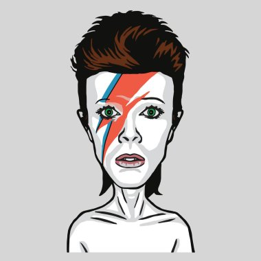 David Bowie Pop Art Vector Portrait Illustration