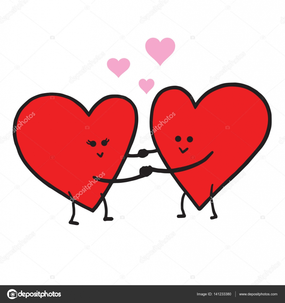 cute love cartoon in love vector illustration valentine greeting