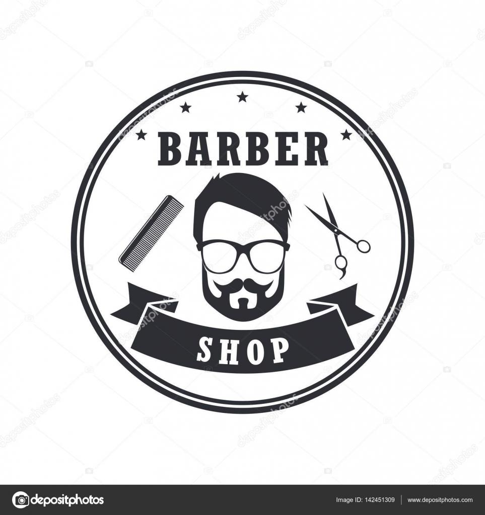 Clip art vector of vintage barber shop logo graphics and icon vector - Barber Shop Badges Vintage Design Elements Logo Labels Banner Emblems Vector Illustration Icon Stock Illustration