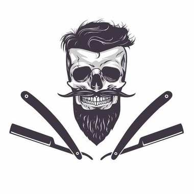 Bearded Skull Vector Illustration