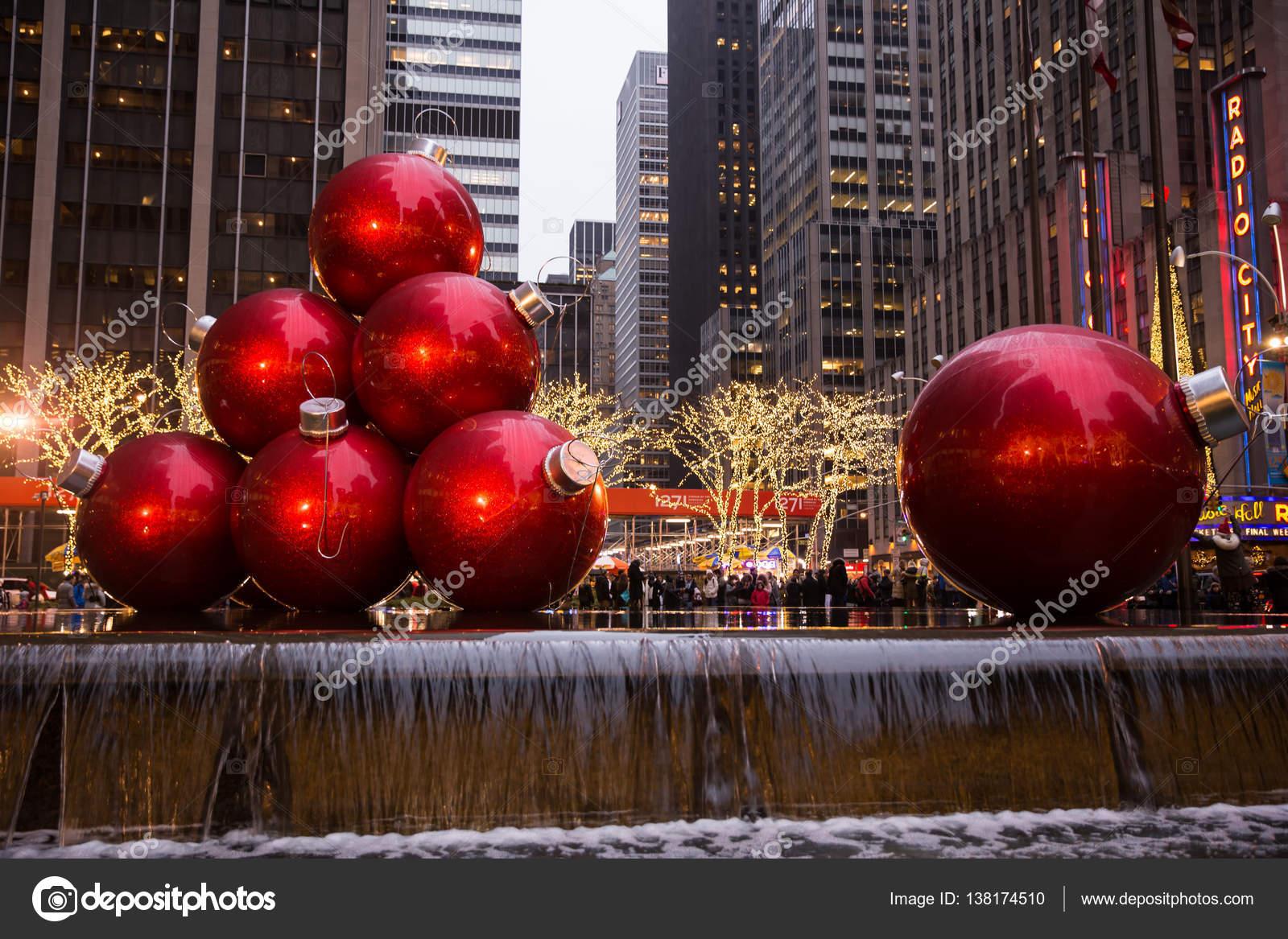 Giant Christmas Ornaments – Stock Editorial Photo © zazdravnaya ...