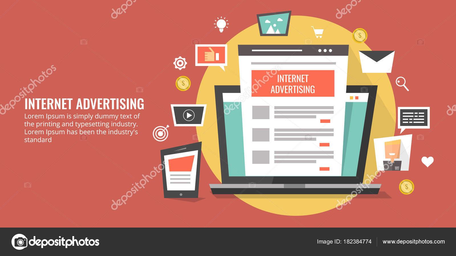 Internet Digitale Medien Werbung Bezahlte Online Marketing Digital ...