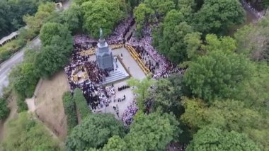 The procession of the Ukrainian Orthodox Church of the Moscow Patriarchate
