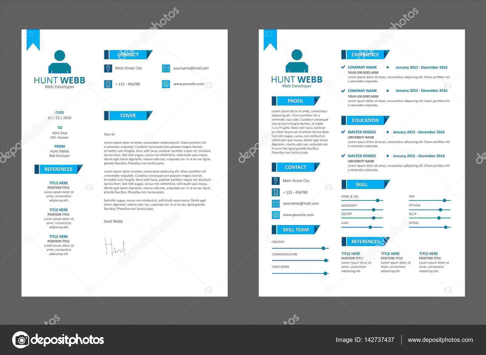 CV Resume, Curriculum Vitae Badge Design — Stock Vector © hendra ...