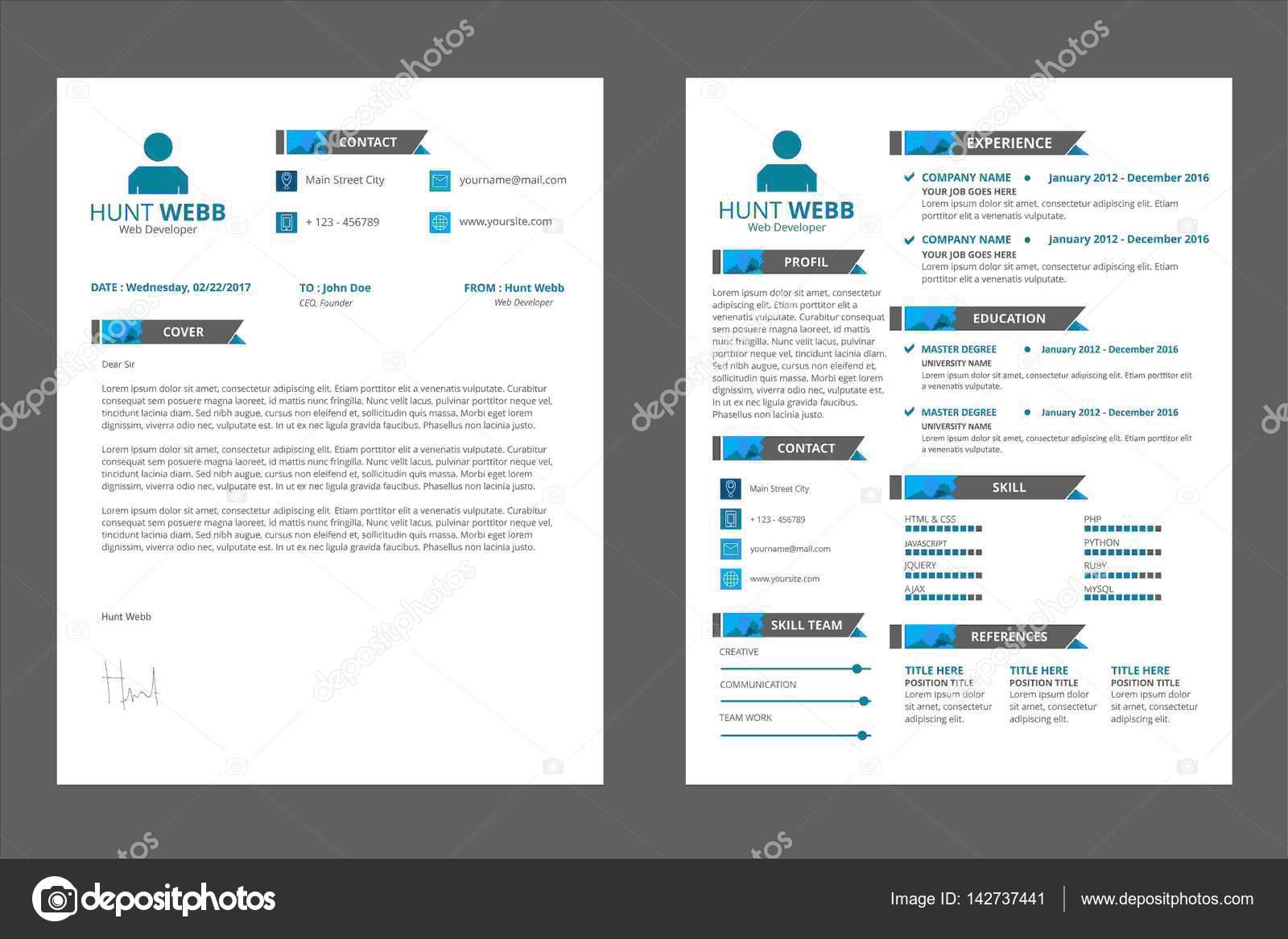 Curriculum Vitae CV, Curriculum Vitae — Vector de stock © hendra ...