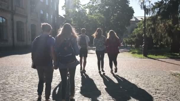 Skupina vysokoškolských studentů, procházky venku