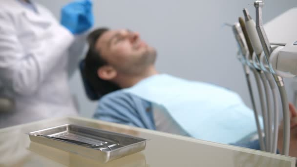 Dental health check-up at clinic