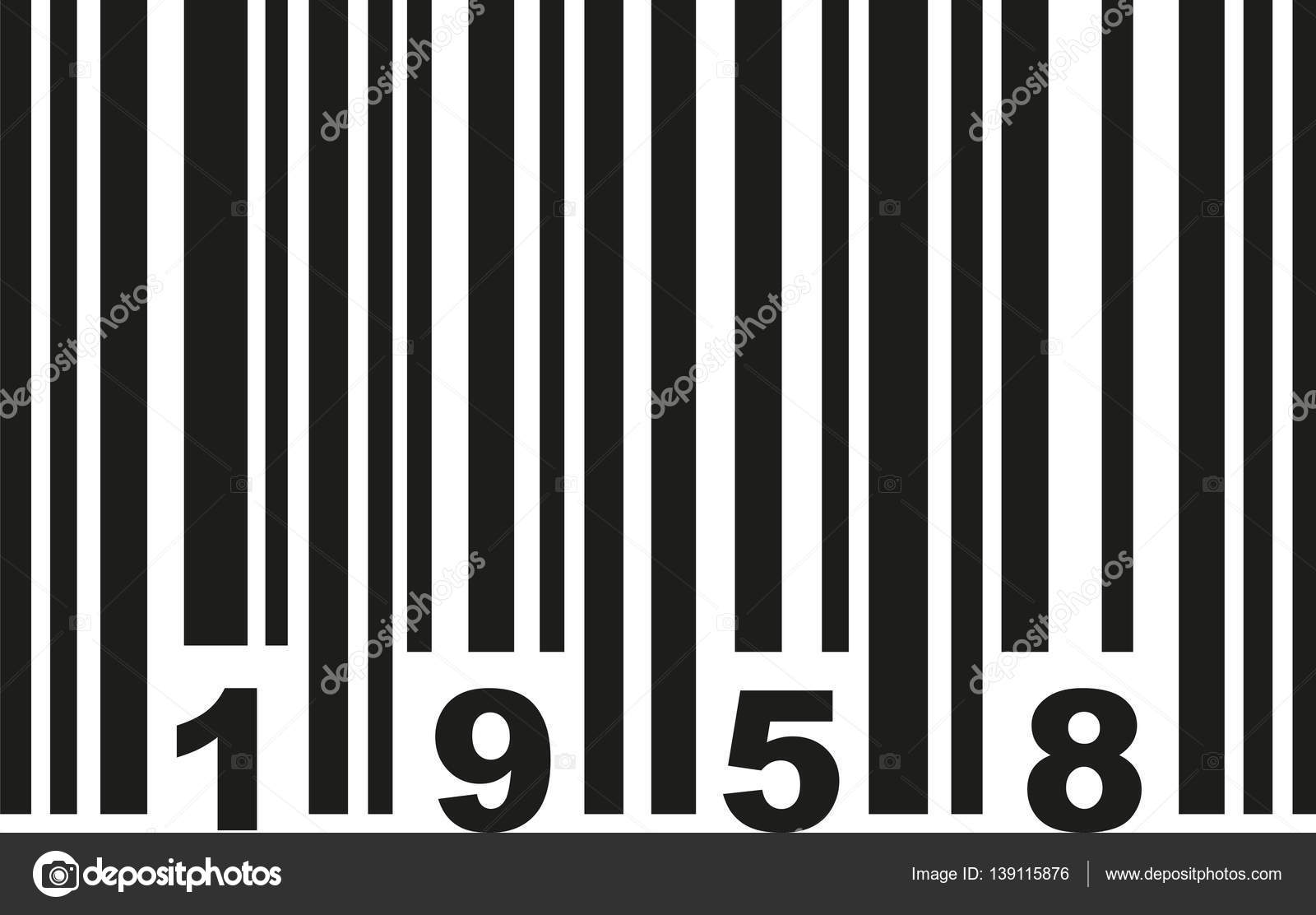 Barcode 1958 price vector — Vector by miceking