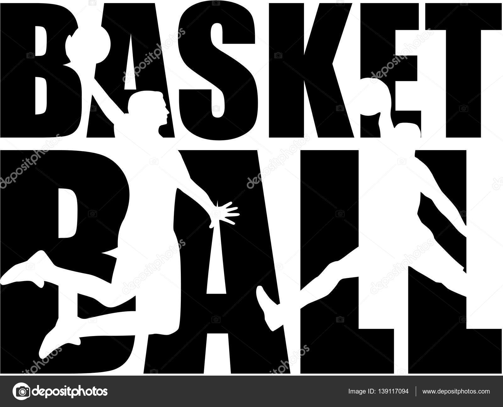 basketball word with silhouettes stock vector miceking 139117094