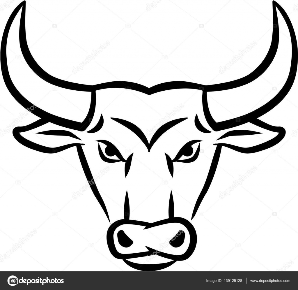 """bull head vector art"" — Image vectorielle miceking ..."