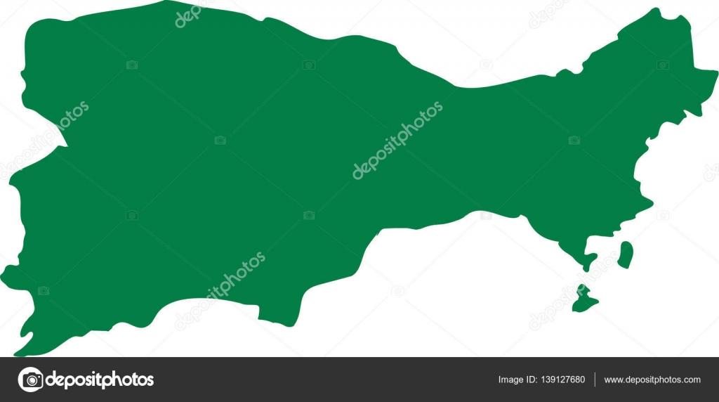 Capri silhouette map — Stock Vector © miceking #139127680 on