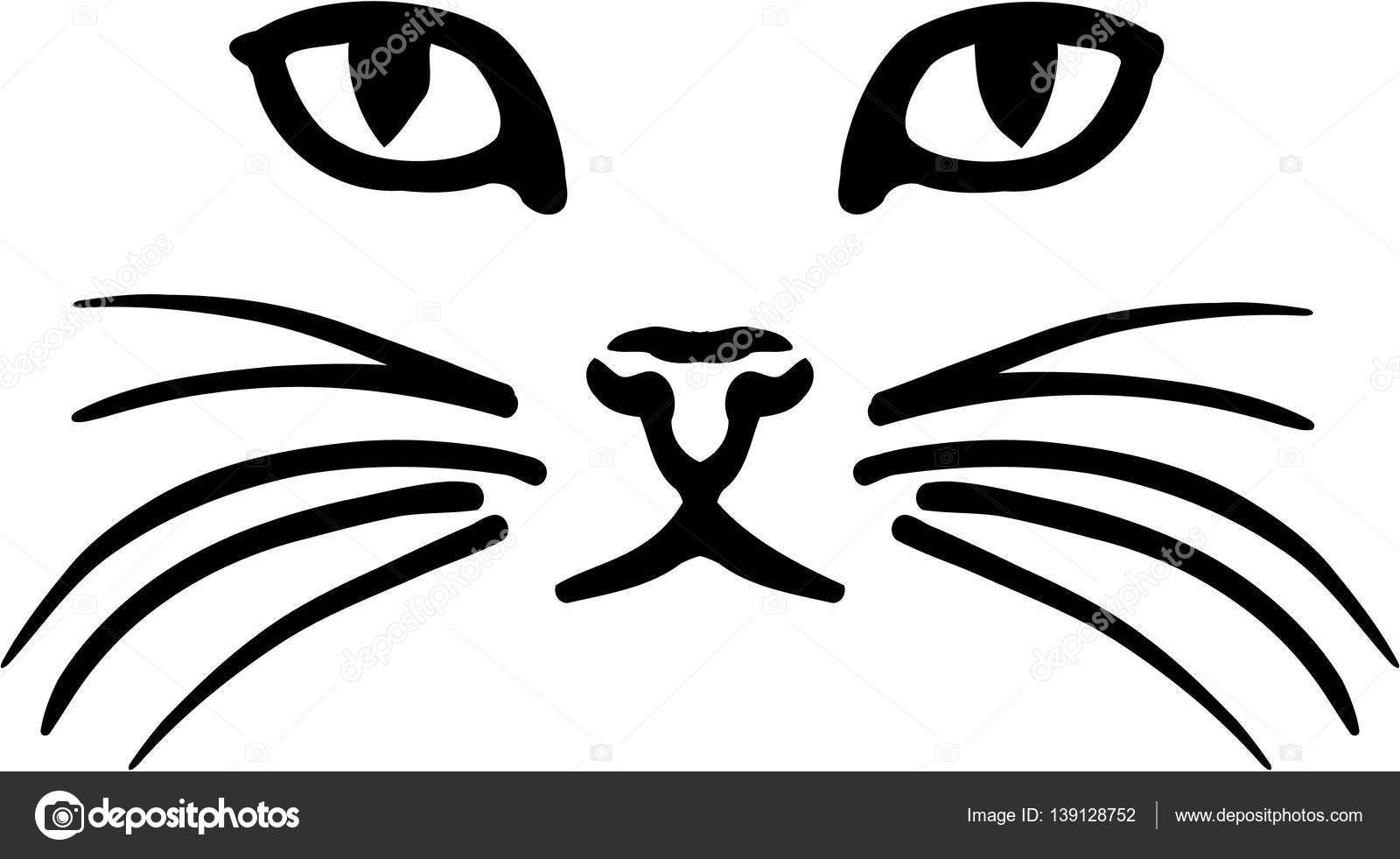 cat face vector � stock vector 169 miceking 139128752