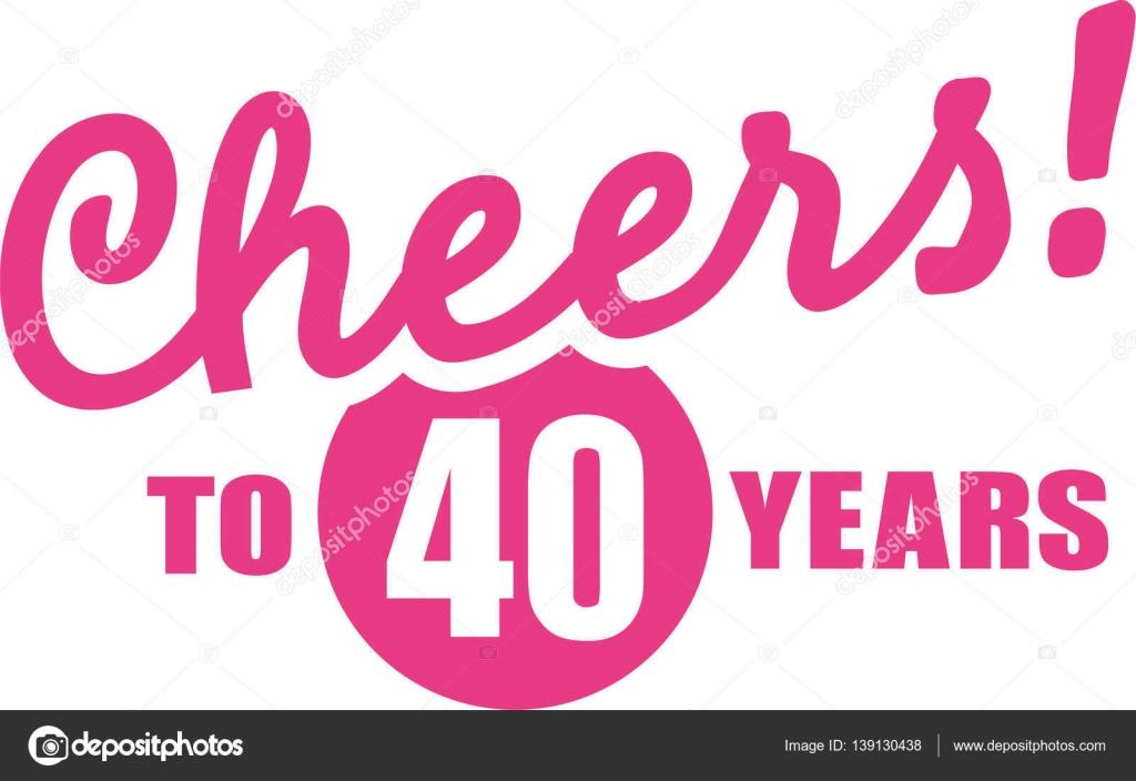 Bekend Cheers aan 40 jaar - 40e verjaardag — Stockvector © miceking &UK45