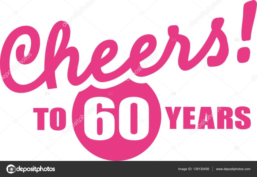 Ein Hoch Auf 60 Jahre Geschenk Zum 60 Geburtstag Stockvektor
