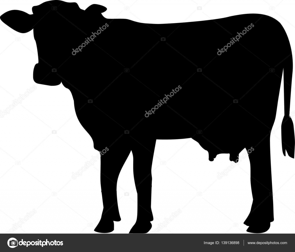 cow silhouette vector stock vector miceking 139136898 rh depositphotos com cow silhouette vector free cowboy silhouette vector