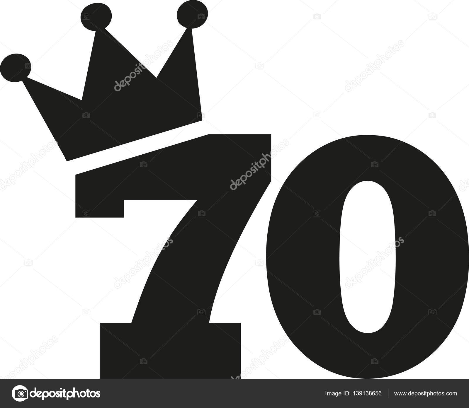 70th birthday number crown 70 vector clip clipart illustration drawings illustrations royalty miceking graphic 70s graphics seventy happy icons gold