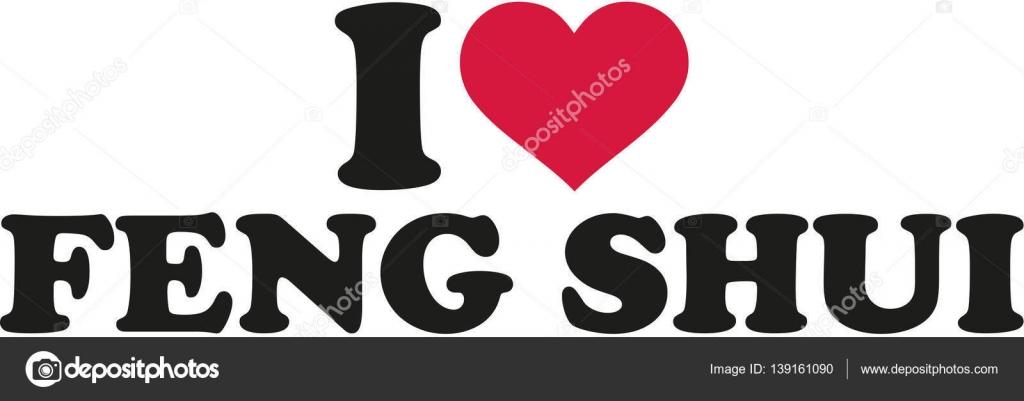 I Love Feng Shui Stock Vector Miceking 139161090