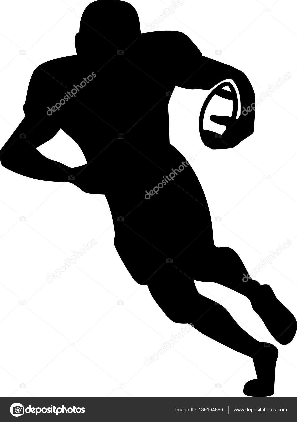 costas de silhueta correndo de futebol vetores de stock miceking