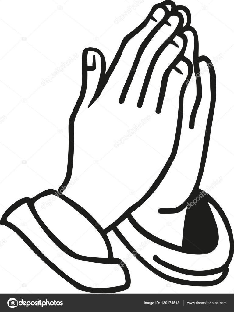 Manos Orando Religión Archivo Imágenes Vectoriales Miceking
