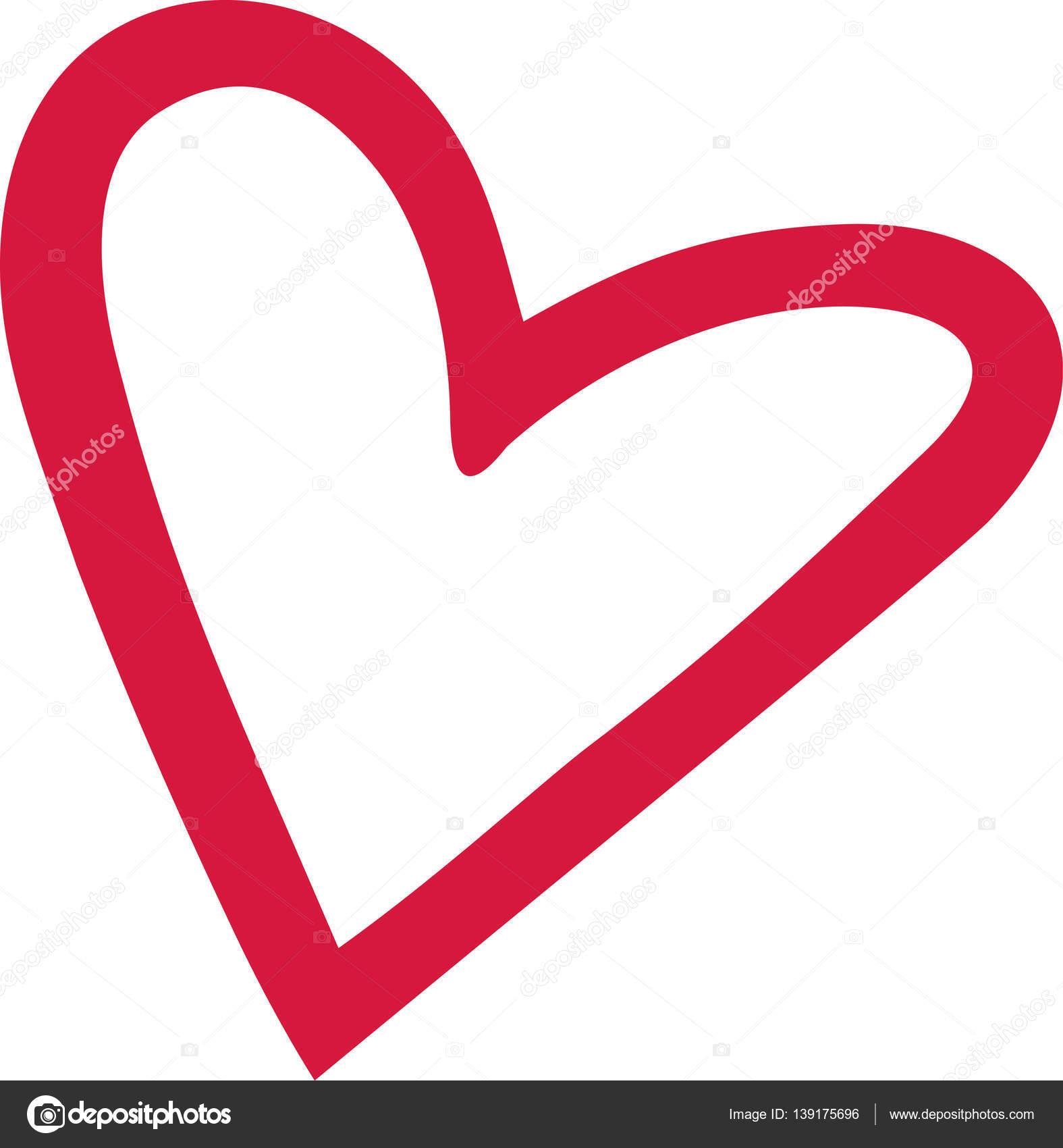 Esquema de corazón lindo — Archivo Imágenes Vectoriales © miceking ...