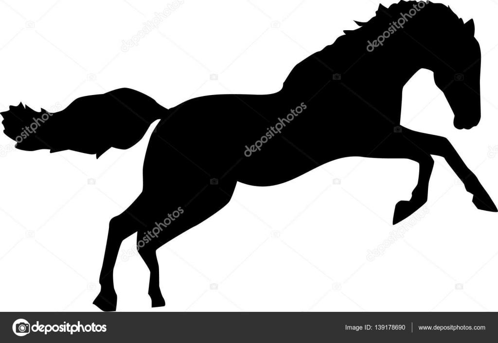 Wild Horse Jumping Bronco Stock Vector C Miceking 139178690