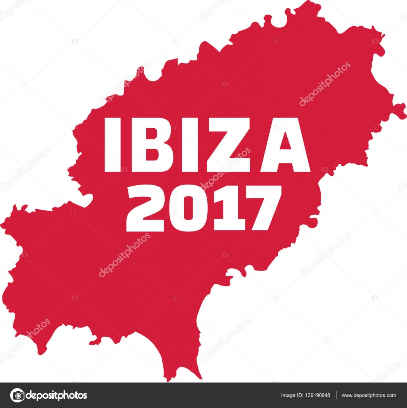 Ibiza Karte Umriss.Karte Von Ibiza Mit Ibiza 2017 Stockvektor Miceking 139190948