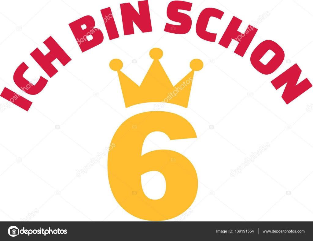 6 Geburtstag Bin Ich Schon 6 Jahre Alt Stockvektor C Miceking