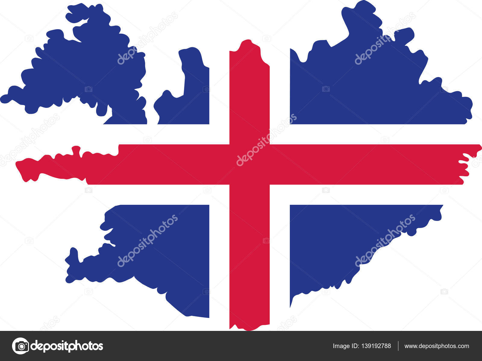 Iceland map with flag — Stock Vector © miceking #139192788