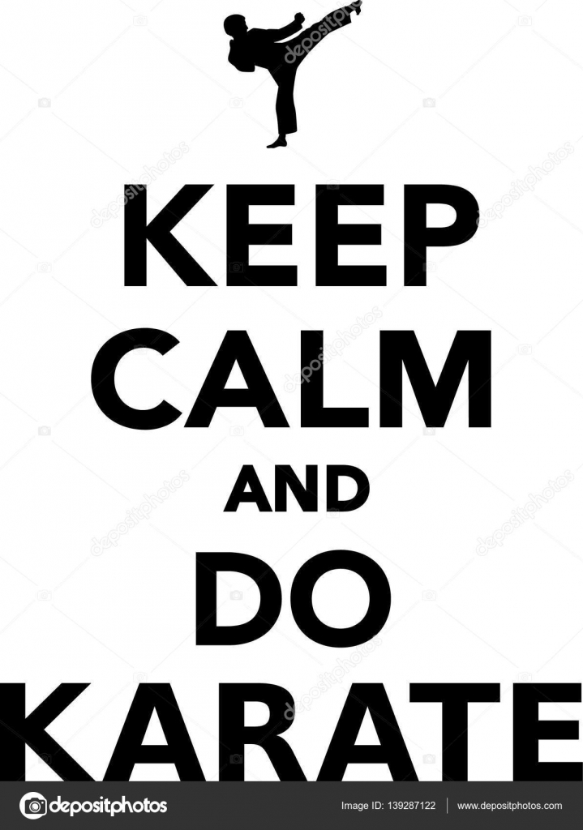 keep calm and do karate stock vector miceking 139287122 rh depositphotos com keep calm vector free download keep calm vector download