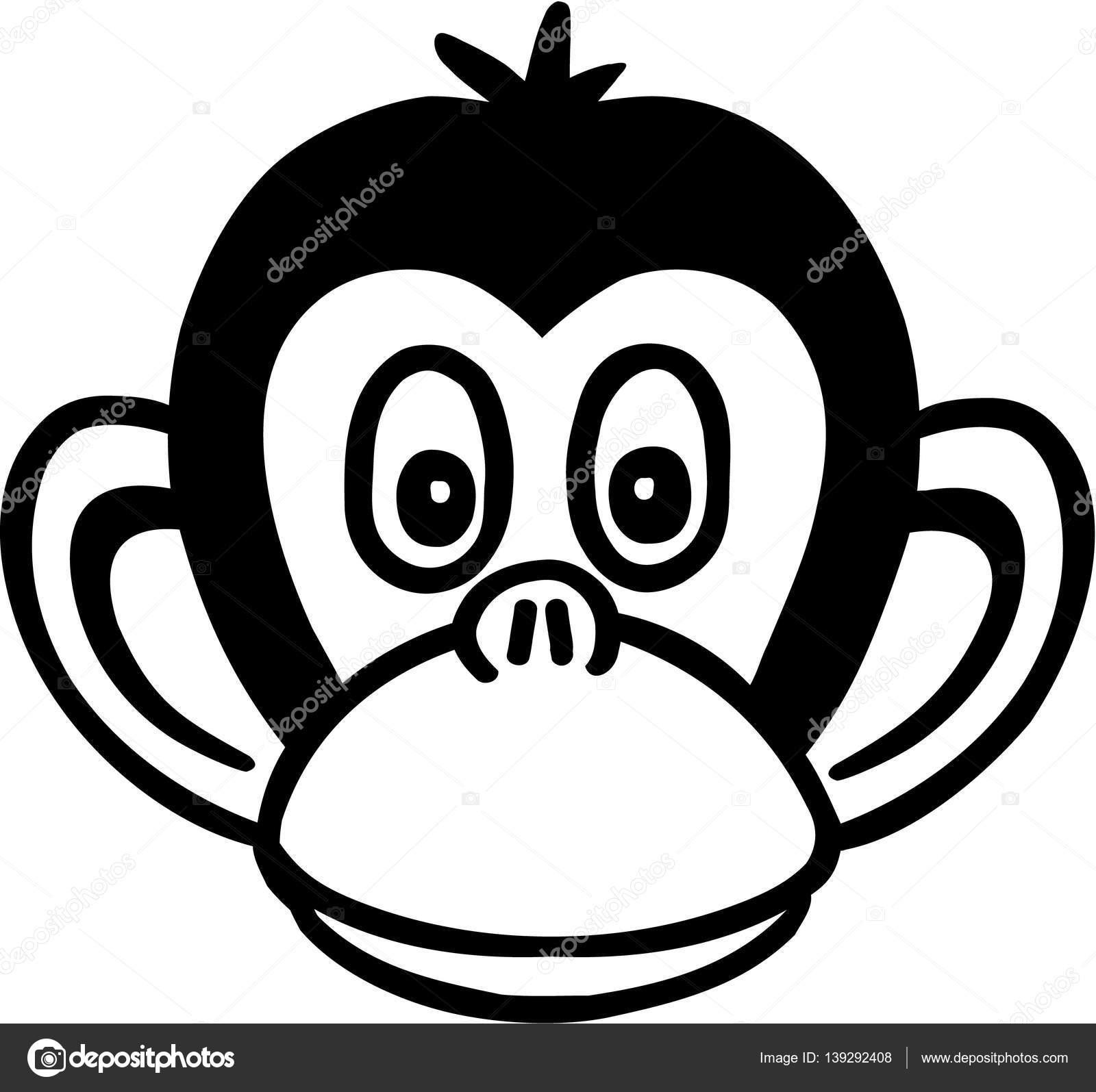 Hlava Kreslena Opice Stock Vektor C Miceking 139292408