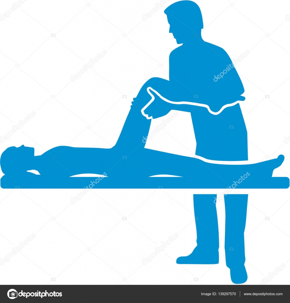 Physical therapy silhouette — Stock Vector © miceking ...