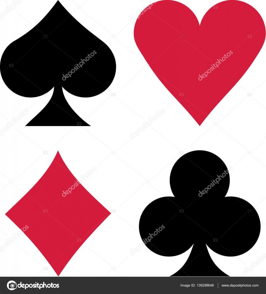 Corazones Espadas Diamantes Juego Cartas Espadas Corazones