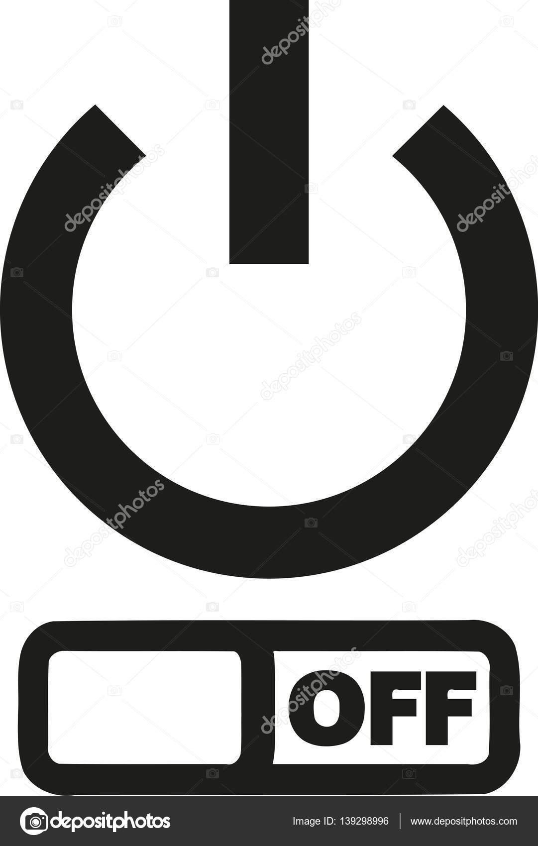thin power button with off symbol stock vector miceking 139298996 rh depositphotos com power button logo for companies power button lockout hp monitor